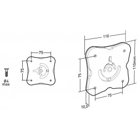 Rotation plate for tablet